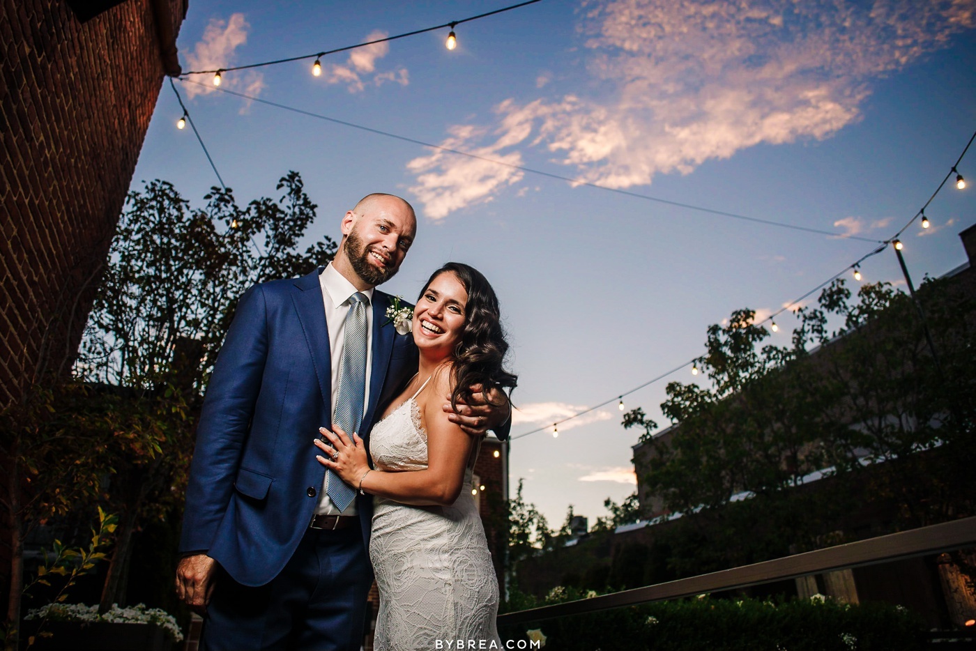 Rooftop wedding sunset photo at Fathom Creative in DC