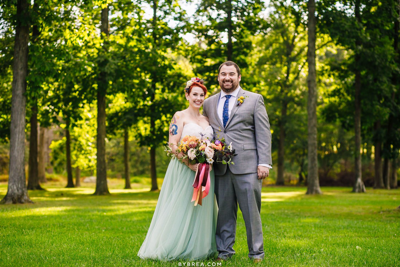 Caboose Farm wedding photo at clearing