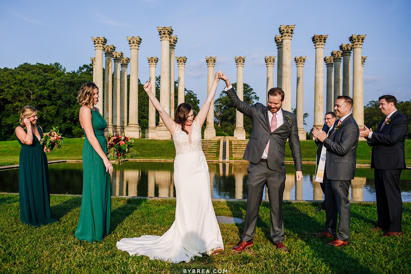 national arboretum micro-wedding photo