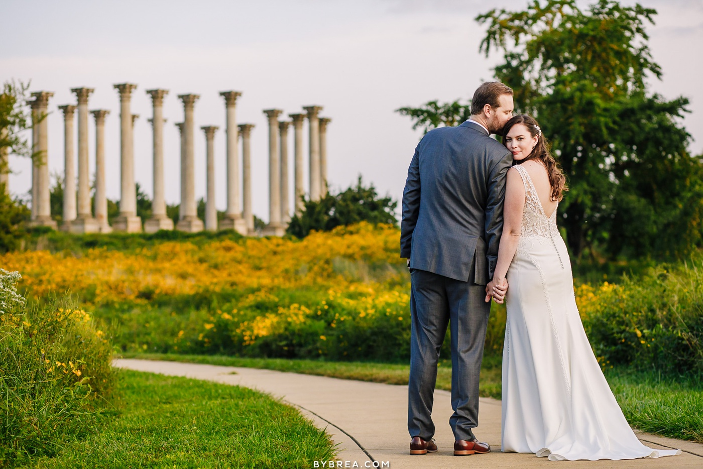 national arboretum wedding photo