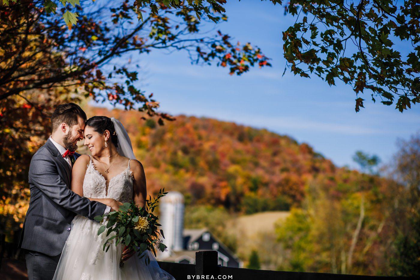 Deep Creek Wedding Photos in Fall Chanteclaire Farm