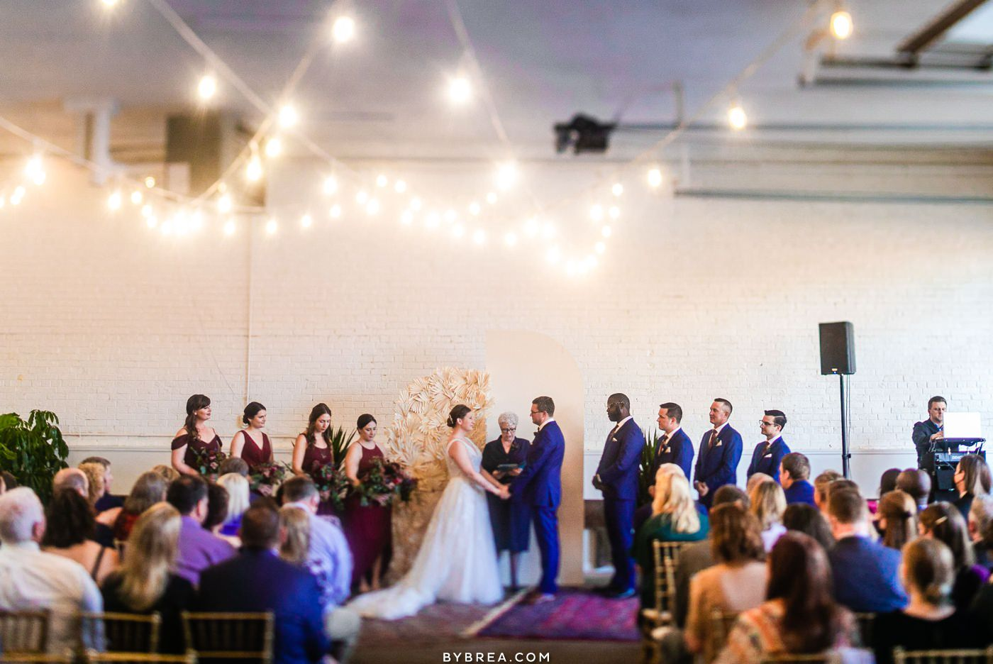 Wedding photo at the Sun Room in DC Wedding Ceremony